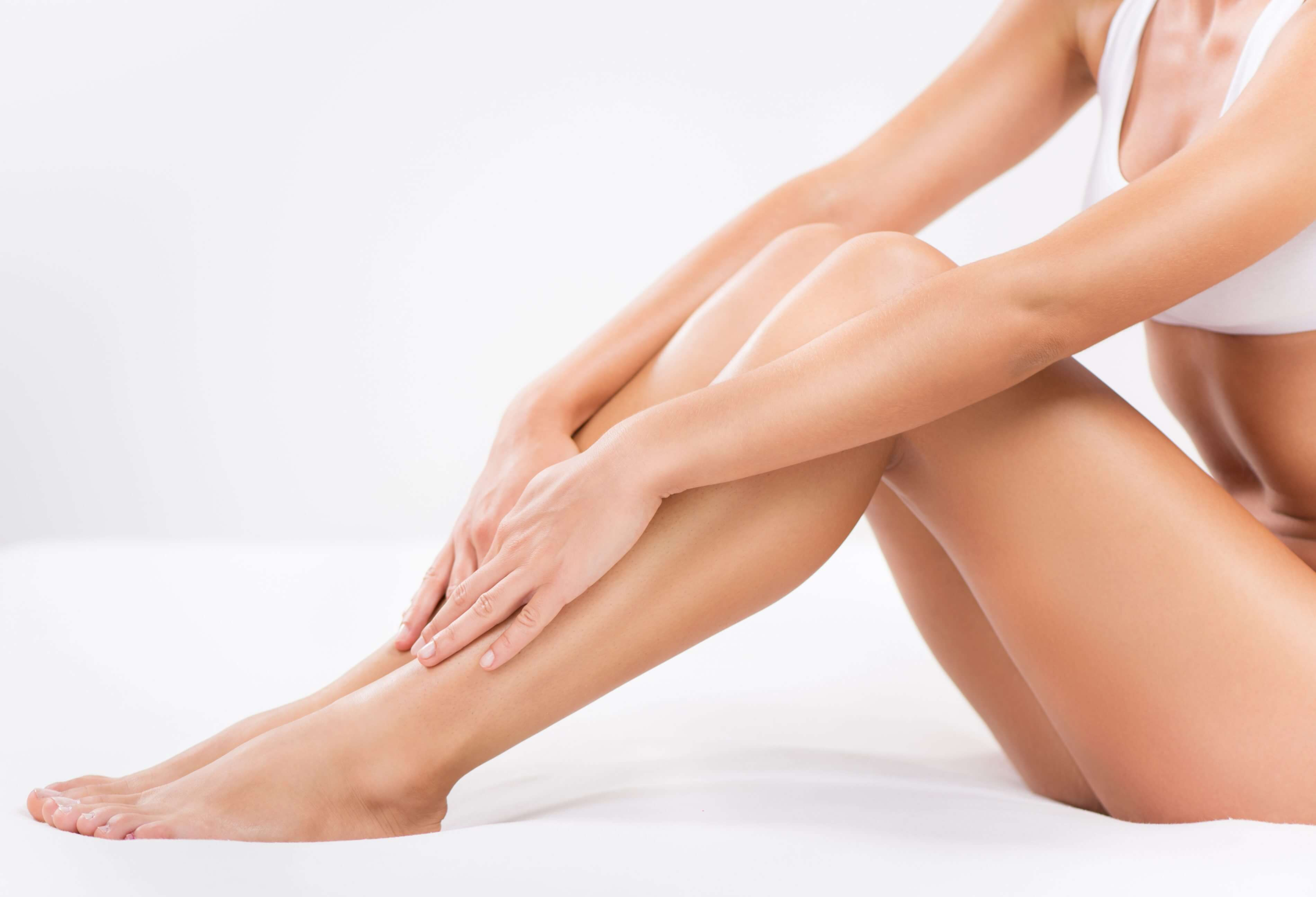 Bodycare of female Smooth legs.
