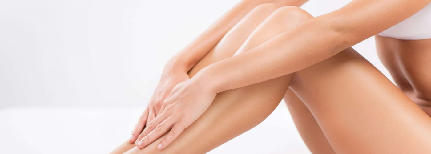 Bodycare of female Smooth legs.